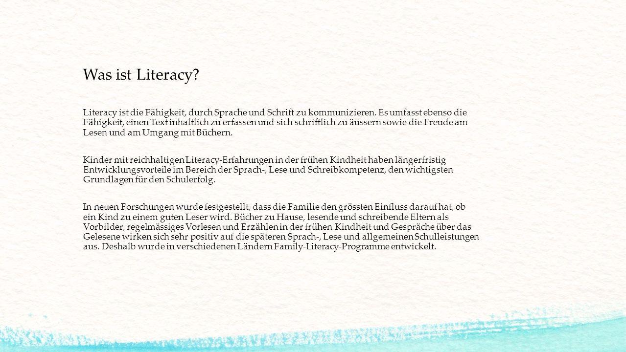 Literacy ist die Fähigkeit, durch Sprache und Schrift zu kommunizieren. Es umfasst ebenso die Fähigkeit, einen Text inhaltlich zu erfassen und sich sc