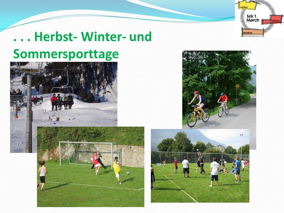 ... Herbst- Winter- und Sommersporttage
