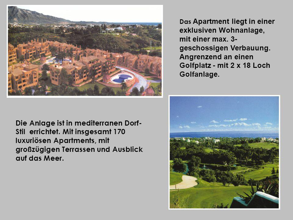 Die Anlage ist in mediterranen Dorf- Stil errichtet.