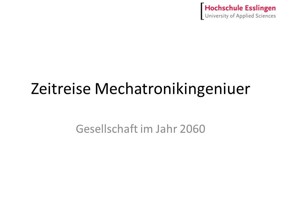 Zeitreise Mechatronikingeniuer Gesellschaft im Jahr 2060