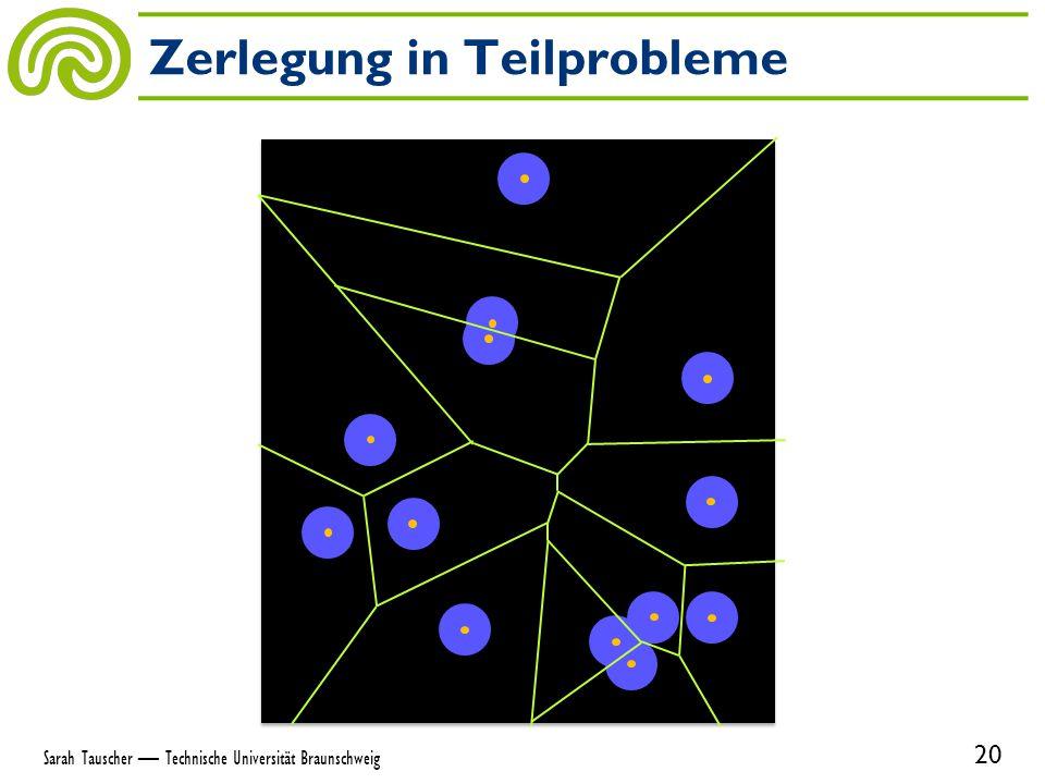 Zerlegung in Teilprobleme 20 Sarah Tauscher — Technische Universität Braunschweig