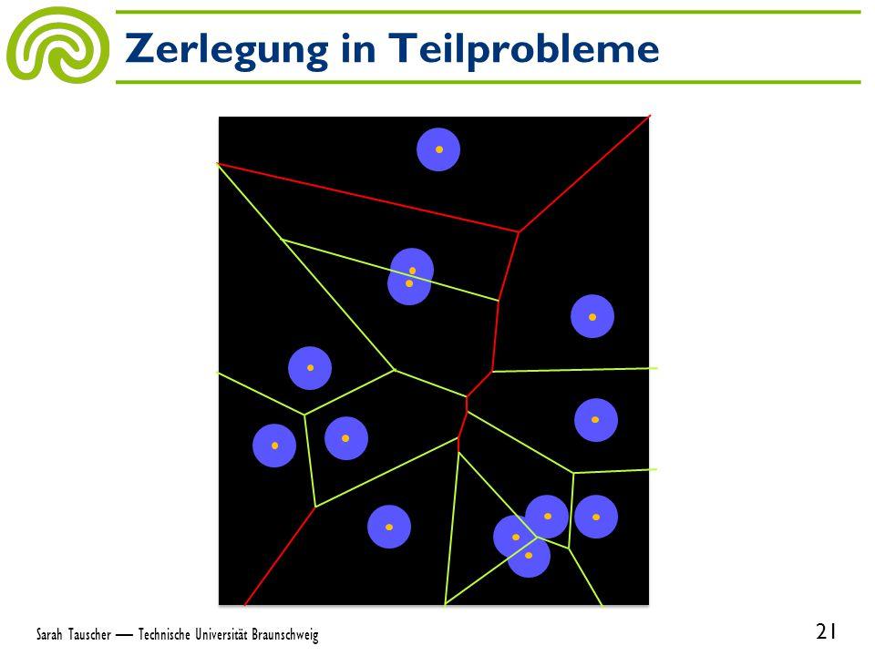 Zerlegung in Teilprobleme 21 Sarah Tauscher — Technische Universität Braunschweig