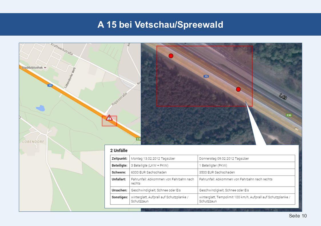 Seite 10 A 15 bei Vetschau/Spreewald