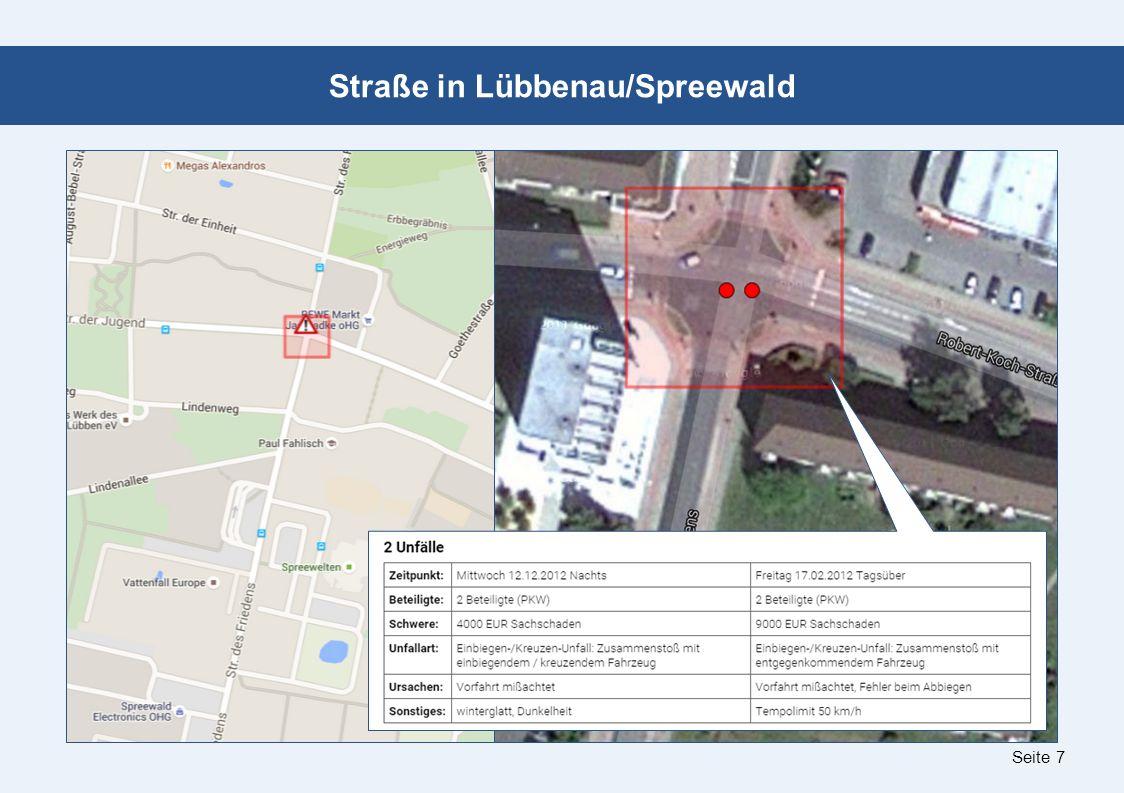 Seite 8 Kreuzung an der L 49 in Lübbenau/Spreewald