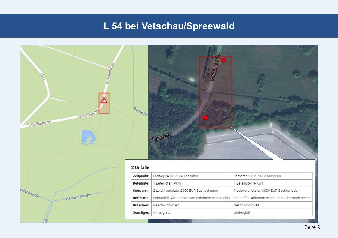 Seite 9 L 54 bei Vetschau/Spreewald