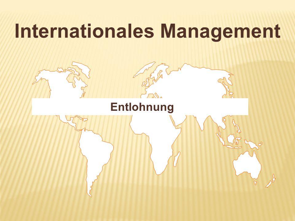 Internationales Management Entlohnung
