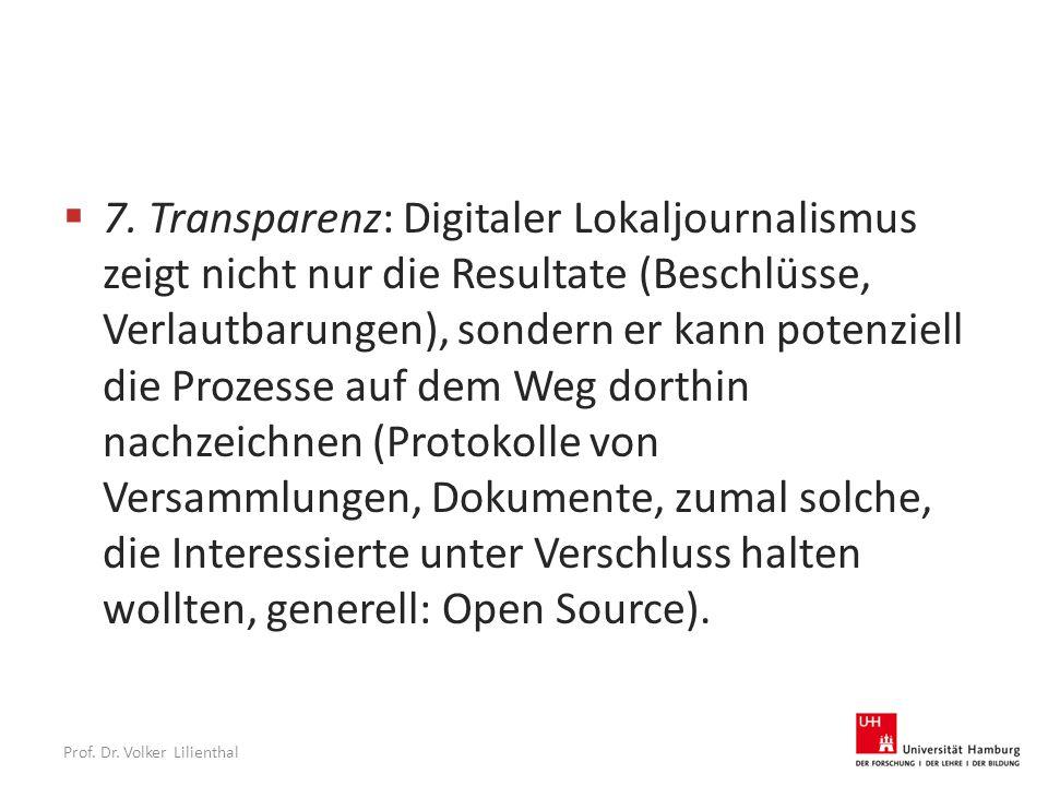 Prof. Dr. Volker Lilienthal  7.