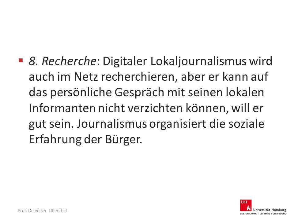 Prof. Dr. Volker Lilienthal  8.