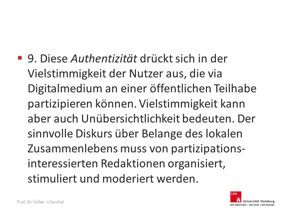 Prof. Dr. Volker Lilienthal  9.