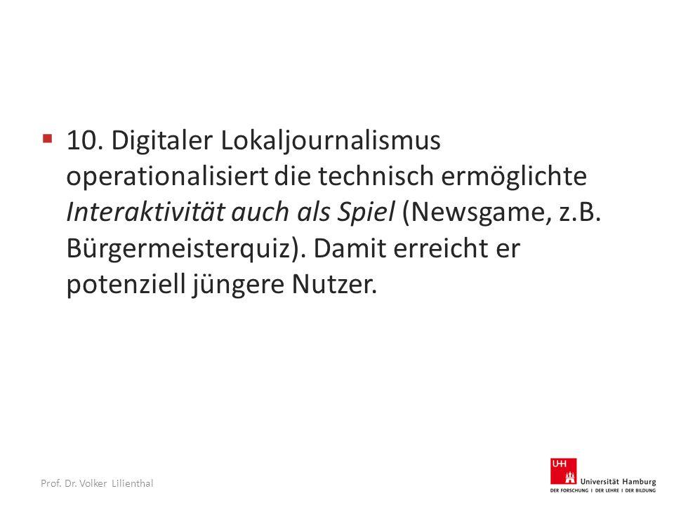 Prof. Dr. Volker Lilienthal  10.