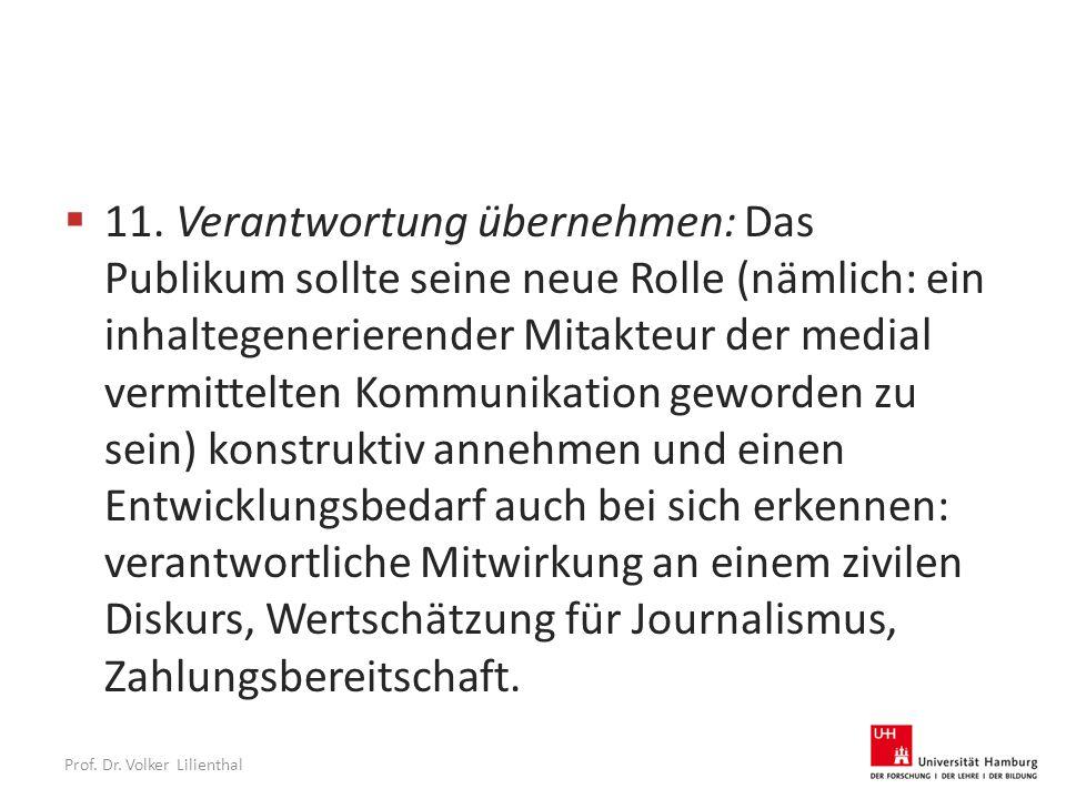 Prof. Dr. Volker Lilienthal  11.
