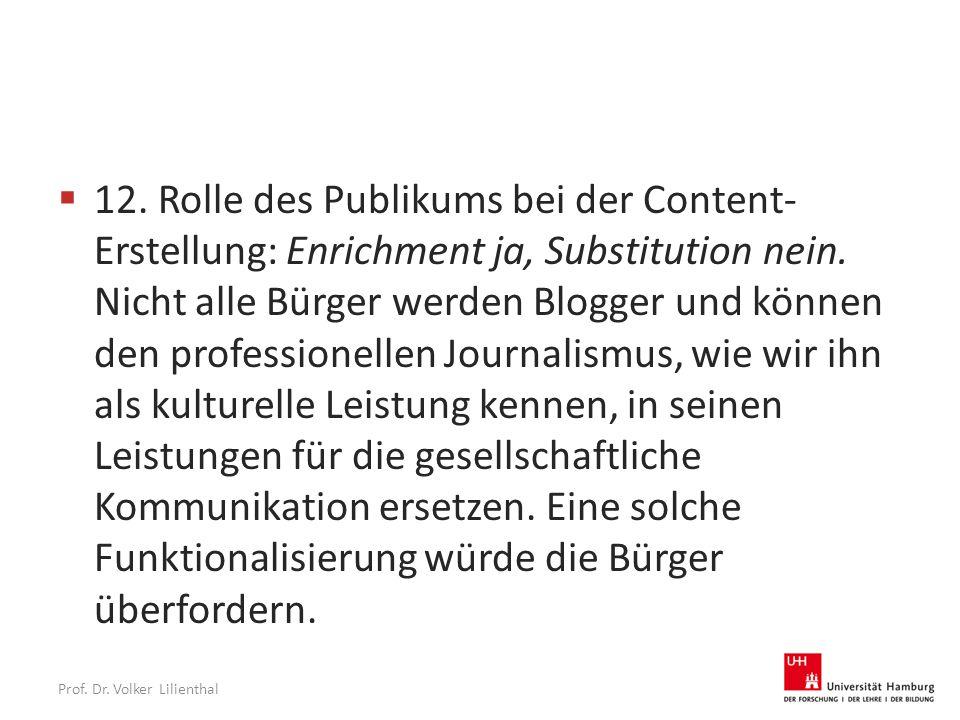 Prof. Dr. Volker Lilienthal  12.