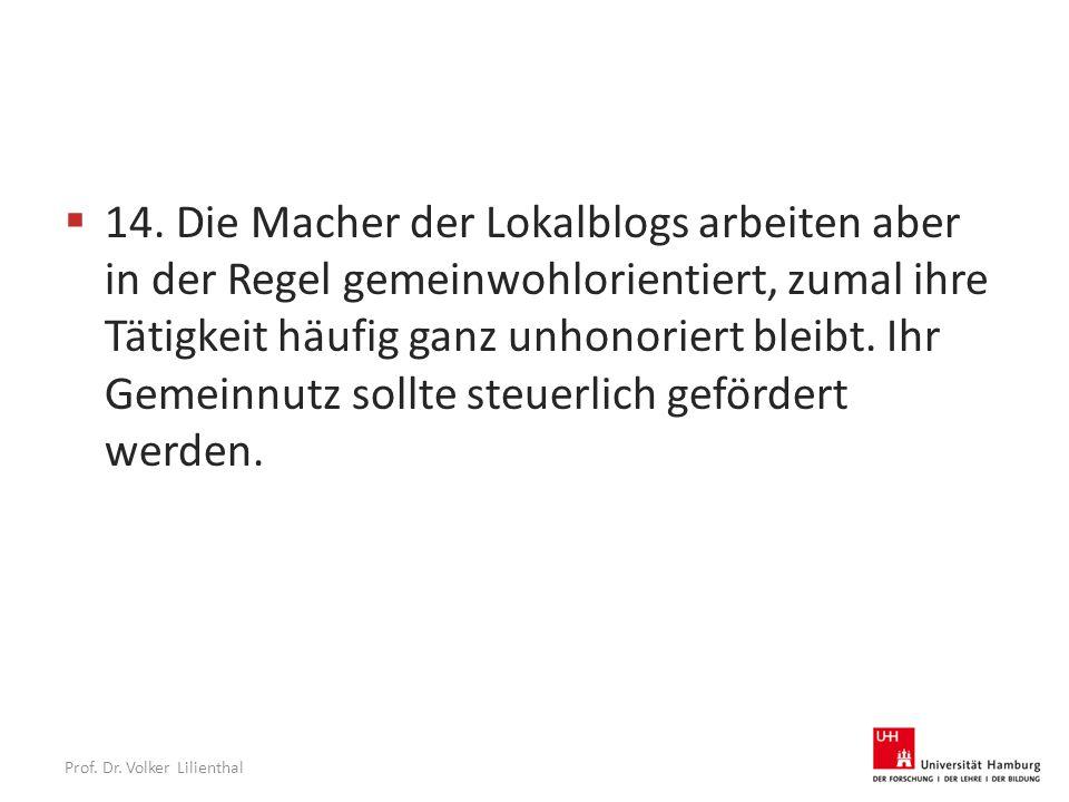 Prof. Dr. Volker Lilienthal  14.