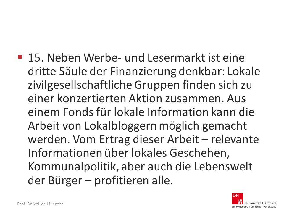 Prof. Dr. Volker Lilienthal  15.