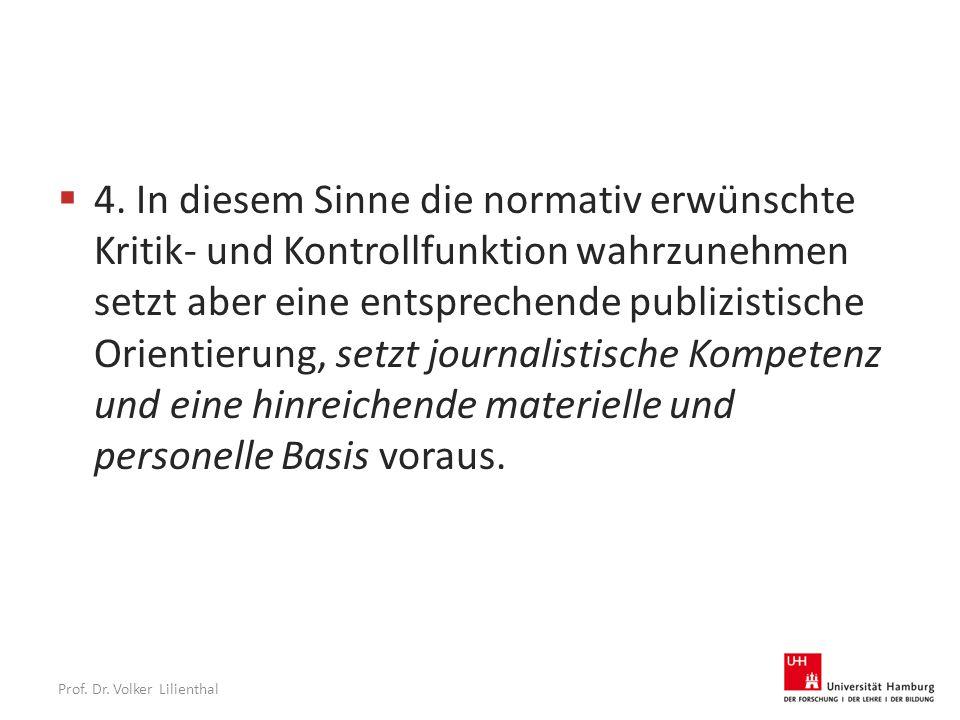 Prof. Dr. Volker Lilienthal  4.