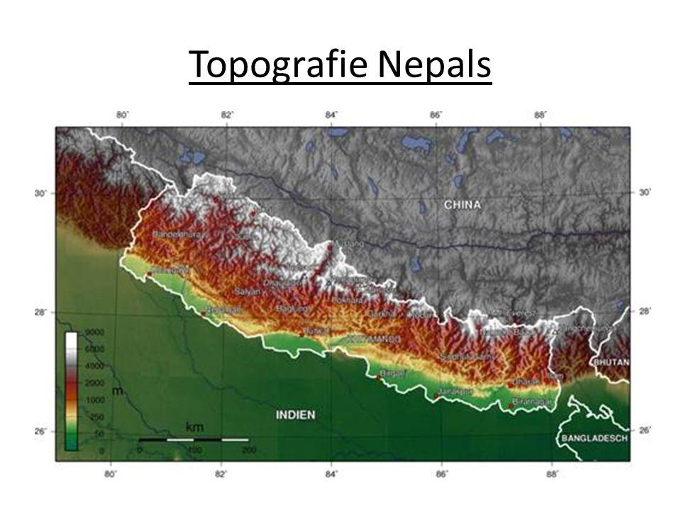 Acht der Vierzehn 8000er Berge liegen in Nepal, diese Berge sind Mount Everest, K2, Kangchendzönga, Lhotse, Makalu, Cho Oyu, Dhaulagiri I, Manaslu, Nanga Parbat, Annapurna I, Hidden Peak (Gashherbrum I), Broad Peak, Gasherbrum II und Shishapangma Die Natur lässt den Menschen in Nepal nur wenig Raum zu leben….