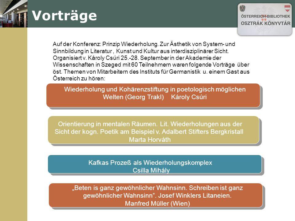 Veranstaltungen 27.Nov. Ungarn liest Österreich.