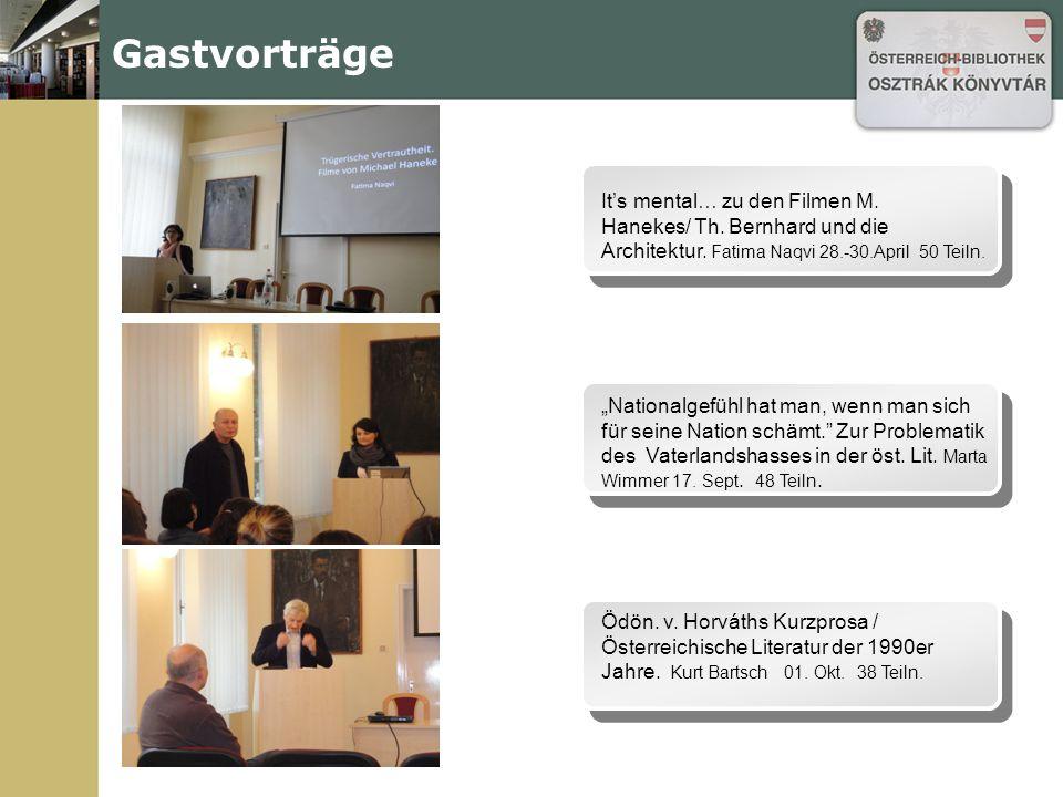 Öst.Literatur und Kultur - heute Seminare, Vorlesungen Öst.