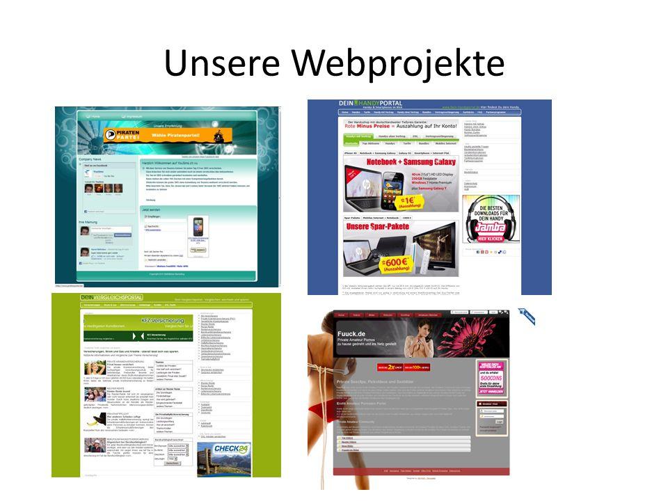 Unsere Webprojekte