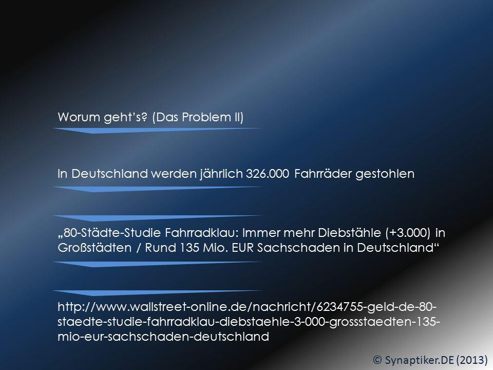 © Synaptiker.DE (2013) Am BIKE-BUILDING-DAY oder bedruckt... DANN:... seid IHR dran