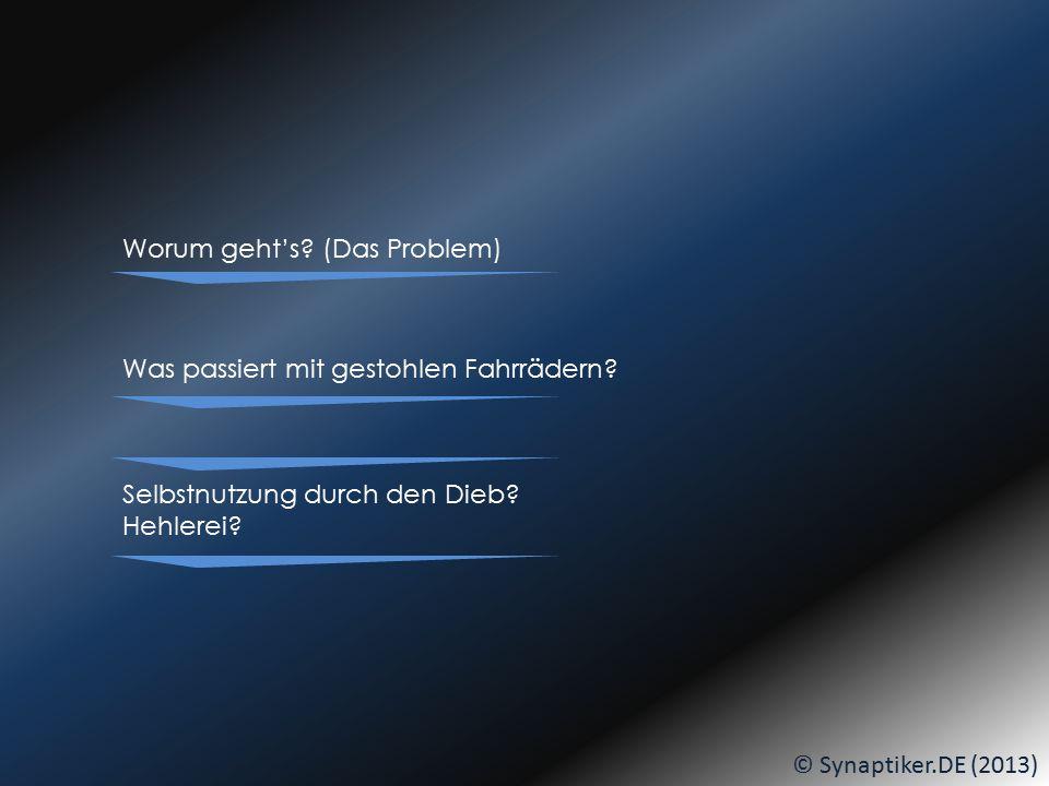 © Synaptiker.DE (2013) Am BIKE-BUILDING-DAY wird geschraubt... DANN:... seid IHR dran