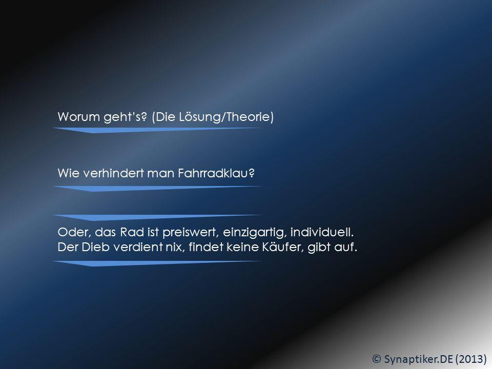 SHOPPING-BASKET © Synaptiker.DE (2013) Am BIKE-BUILDING-DAY und variiert... DANN:... seid IHR dran