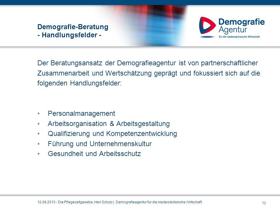Demografie-Beratung - Handlungsfelder - Der Beratungsansatz der Demografieagentur ist von partnerschaftlicher Zusammenarbeit und Wertschätzung geprägt