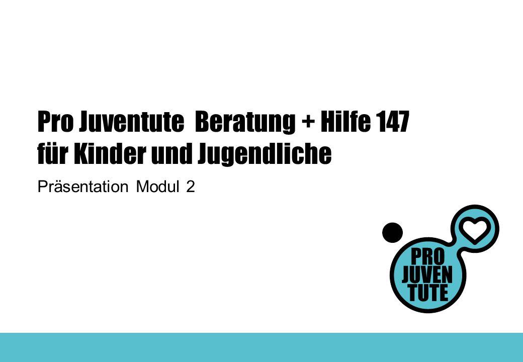 Pro Juventute Beratung + Hilfe 147 für Kinder und Jugendliche Präsentation Modul 2
