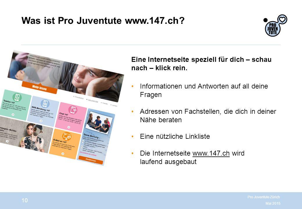 Was ist Pro Juventute www.147.ch.