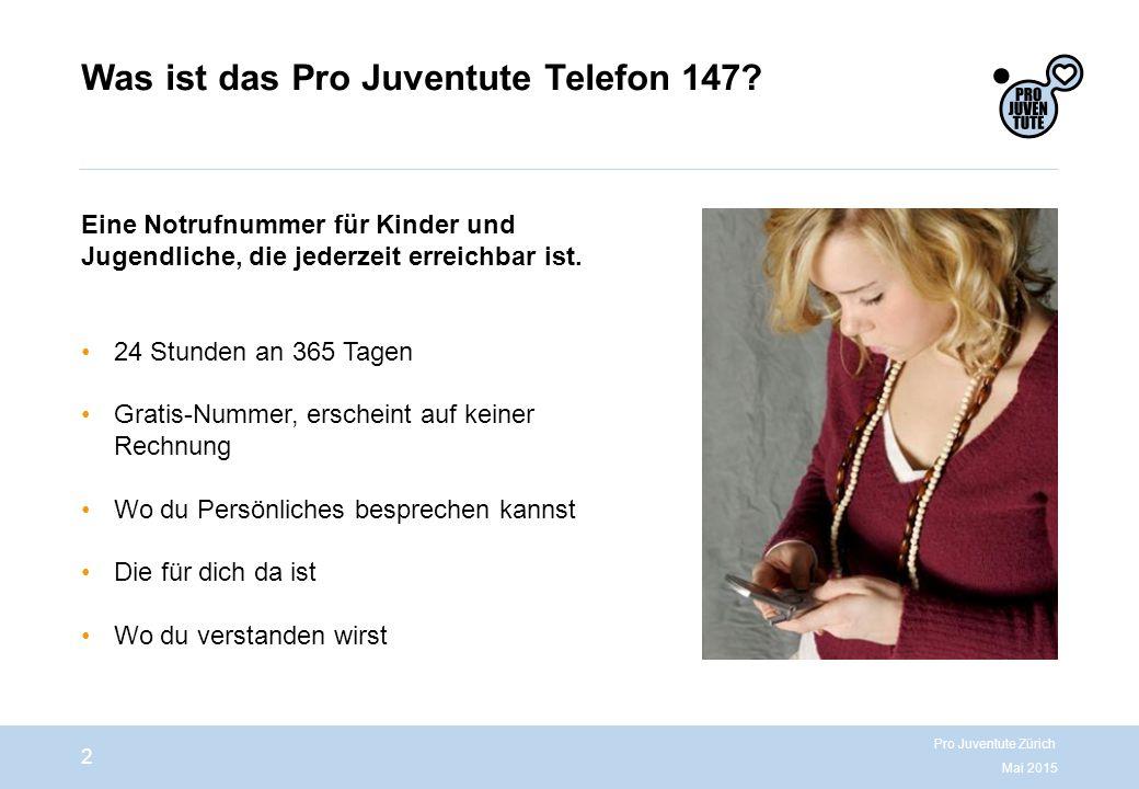 Was ist das Pro Juventute Telefon 147.