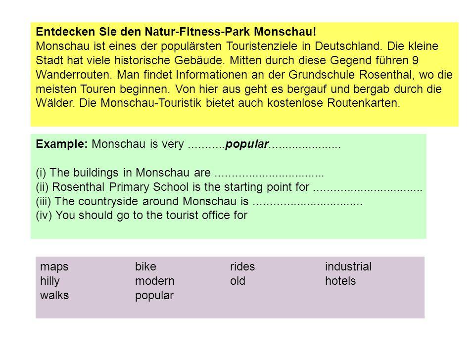 Entdecken Sie den Natur-Fitness-Park Monschau.