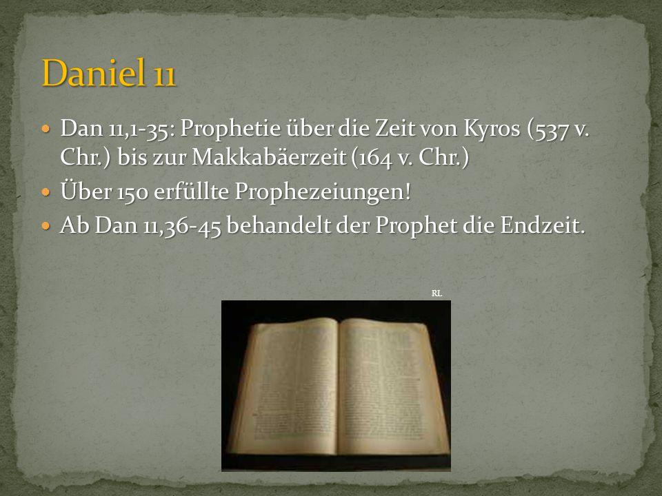 """""""Und die überschwemmenden Streitkräfte werden von ihm weggeschwemmt und zertrümmert werden und sogar ein Fürst des Bundes (11,22)."""