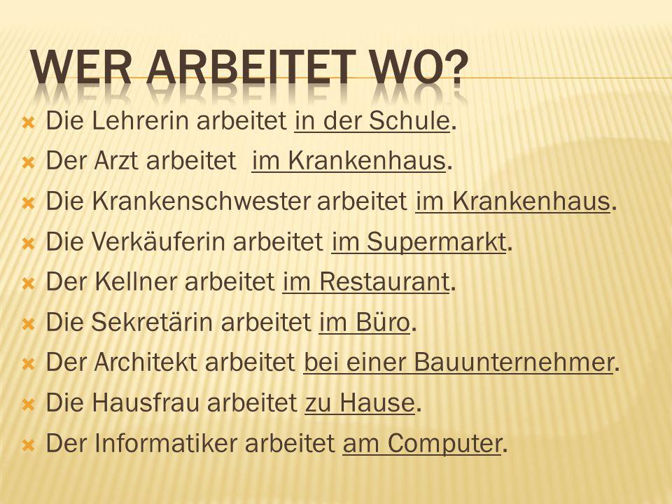1.Buchhalter______ a.fahren 2. Ingenieur______b.reparieren 3.