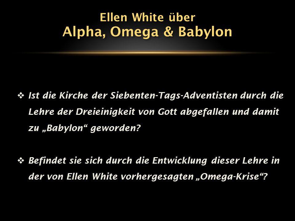 """Die Alpha-Krise (1902-1907) """"Der Vater ist alle Fülle der Gottheit leibhaftig und ist unsichtbar für sterbliche Augen."""