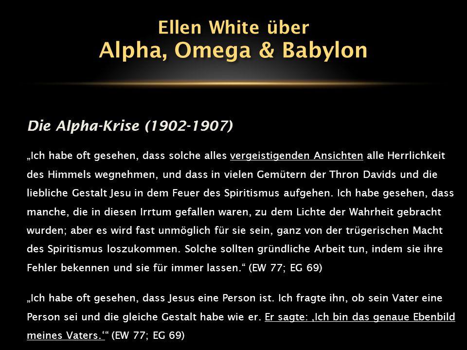 """Die Alpha-Krise (1902-1907) """"Ich habe oft gesehen, dass solche alles vergeistigenden Ansichten alle Herrlichkeit des Himmels wegnehmen, und dass in vi"""
