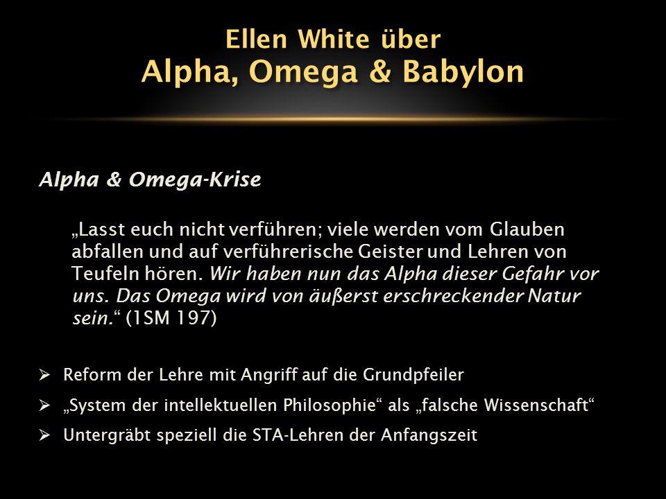 """Alpha & Omega-Krise """"Lasst euch nicht verführen; viele werden vom Glauben abfallen und auf verführerische Geister und Lehren von Teufeln hören. Wir ha"""