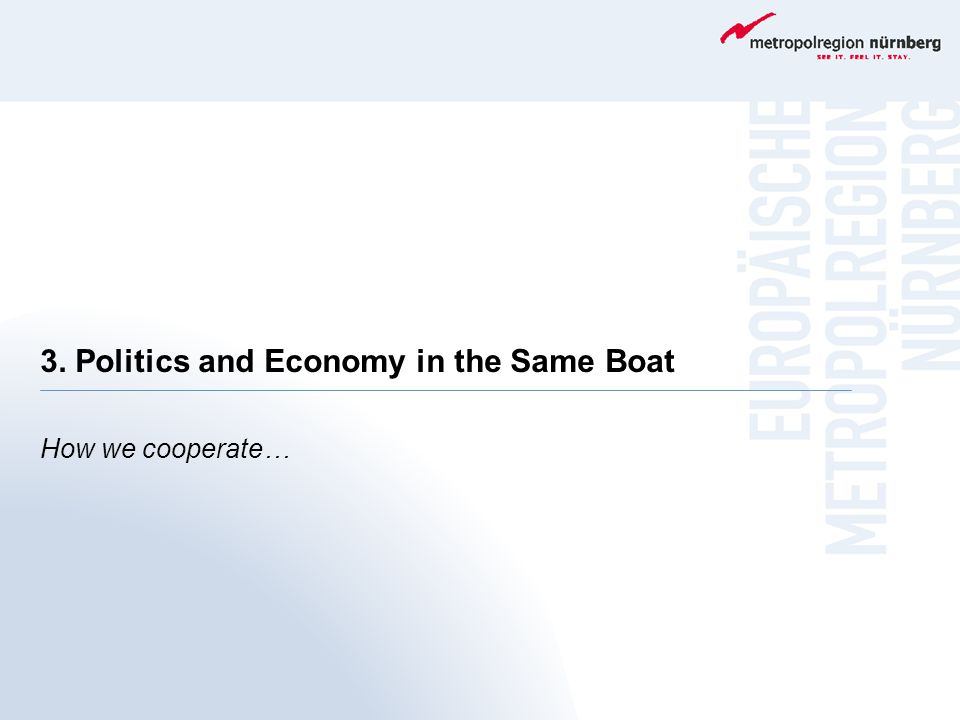 3. Politics and Economy in the Same Boat How we cooperate…