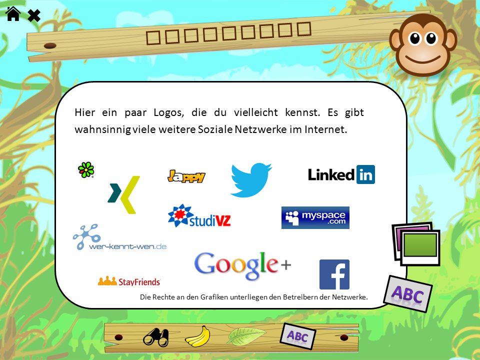 NETZWERKE Hier ein paar Logos, die du vielleicht kennst. Es gibt wahnsinnig viele weitere Soziale Netzwerke im Internet. Die Rechte an den Grafiken un