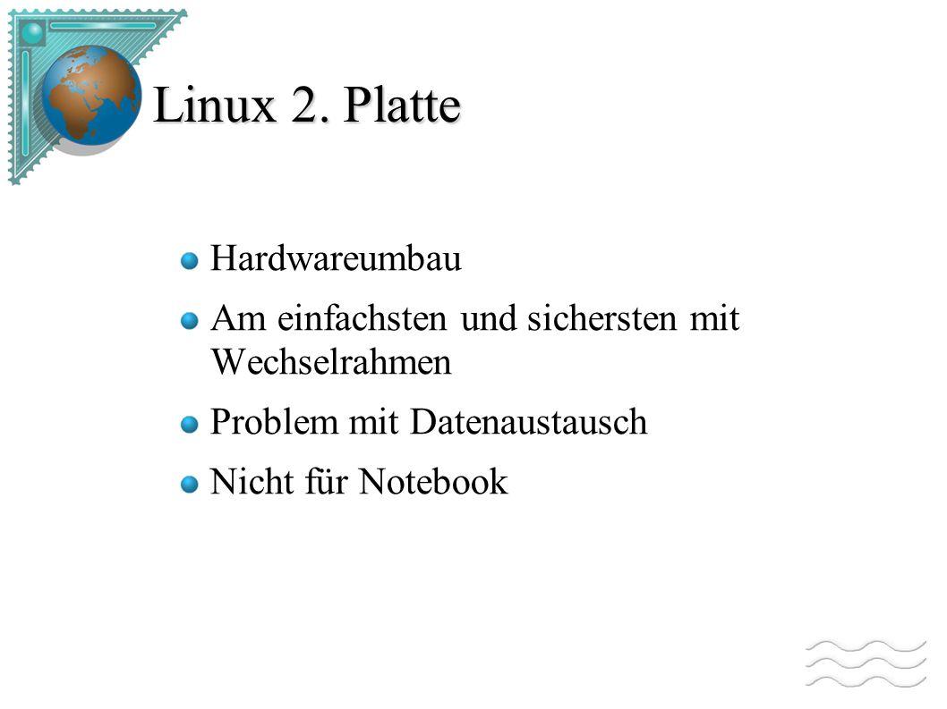 Linux auf 2.Partition Multiboot System Muss bestehende Partiton verkleinert werden.