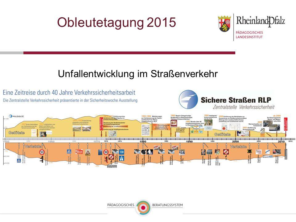 Obleutetagung 2015 Unfallentwicklung im Straßenverkehr