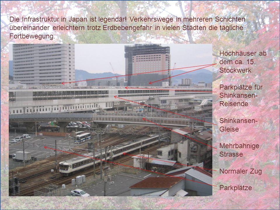 Die Infrastruktur in Japan ist legendär! Verkehrswege in mehreren Schichten übereinander erleichtern trotz Erdbebengefahr in vielen Städten die täglic