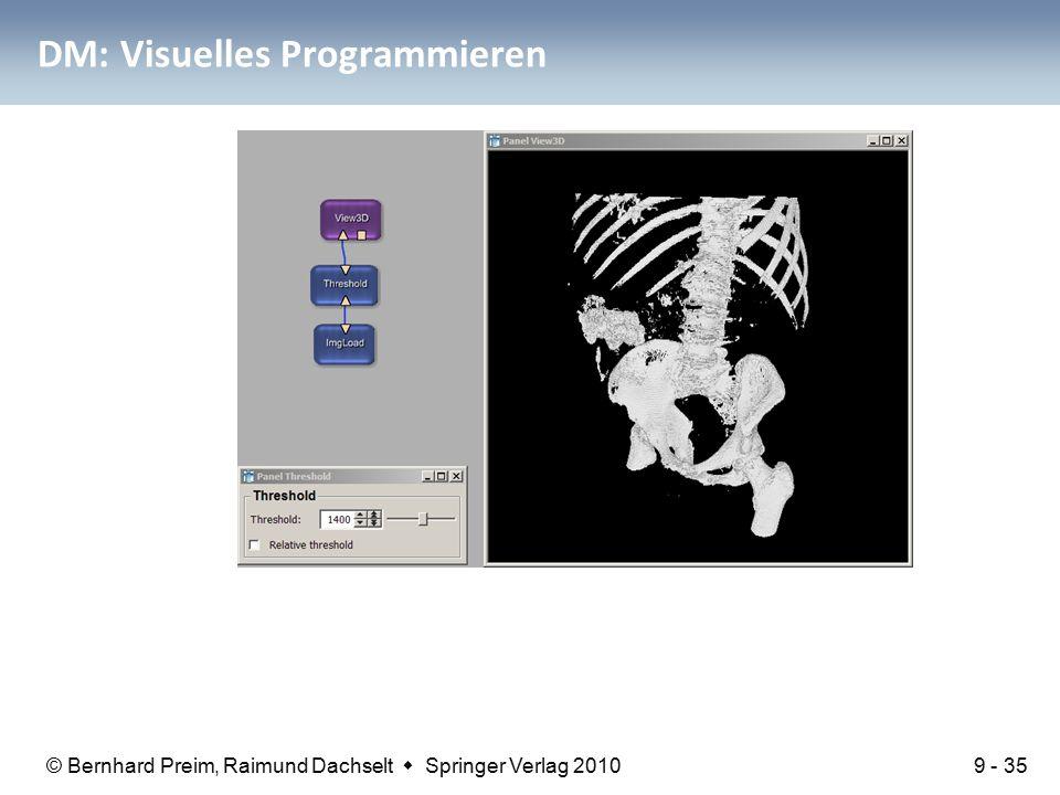 © Bernhard Preim, Raimund Dachselt  Springer Verlag 2010 DM: Visuelles Programmieren 9 - 35