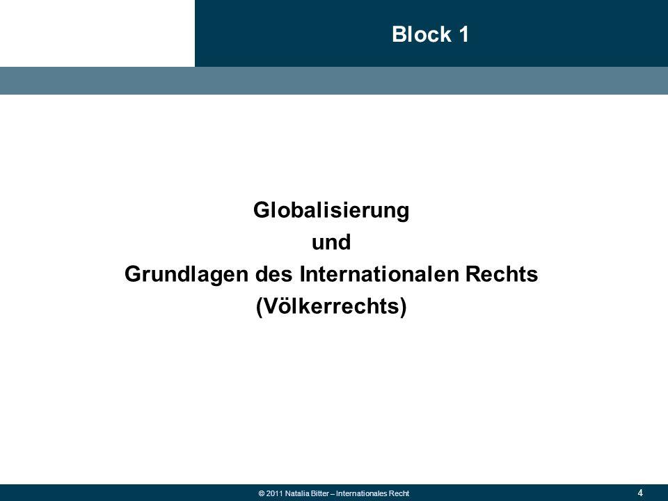 65 © 2011 Natalia Bitter – Internationales Recht 1.