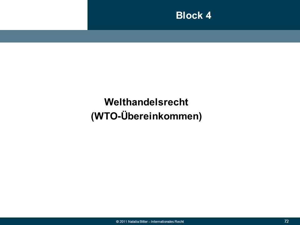 72 © 2011 Natalia Bitter – Internationales Recht Block 4 1.Allgemeine Grundsätze des neuen Rechts 2.Überweisung  Fehlüberweisung wegen falscher Konto