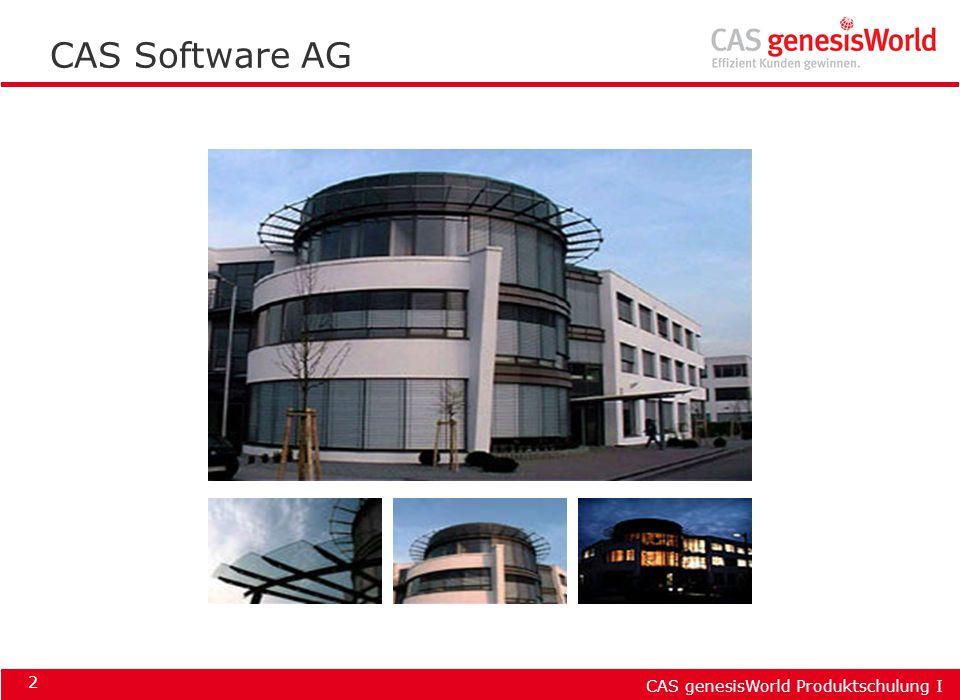 CAS genesisWorld Produktschulung I 2 CAS Software AG