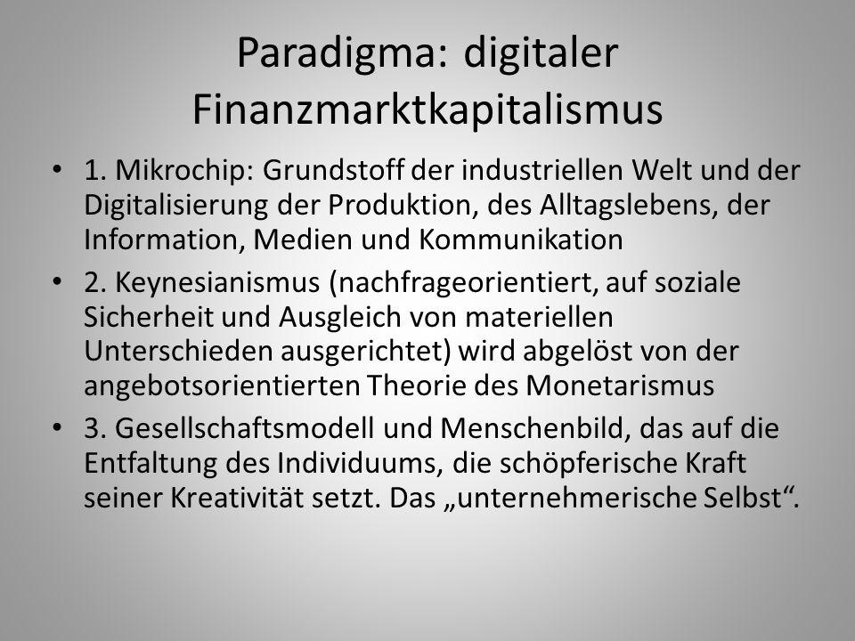 Paradigma: digitaler Finanzmarktkapitalismus 1. Mikrochip: Grundstoff der industriellen Welt und der Digitalisierung der Produktion, des Alltagslebens
