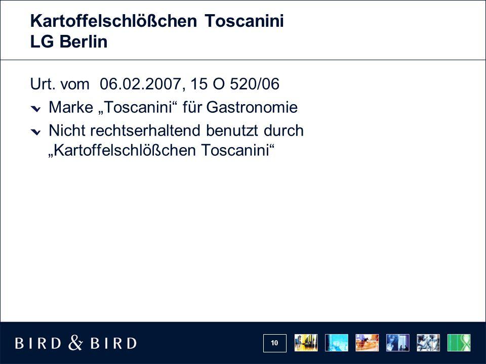 10 Kartoffelschlößchen Toscanini LG Berlin Urt.