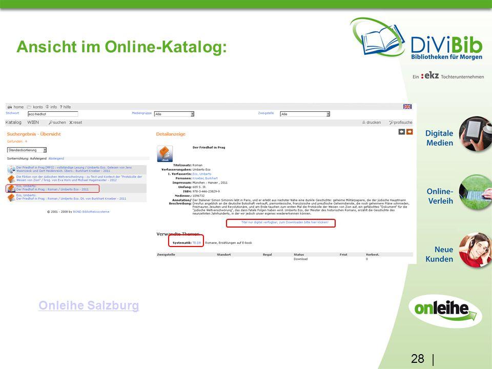 28 | Ansicht im Online-Katalog: Onleihe Salzburg