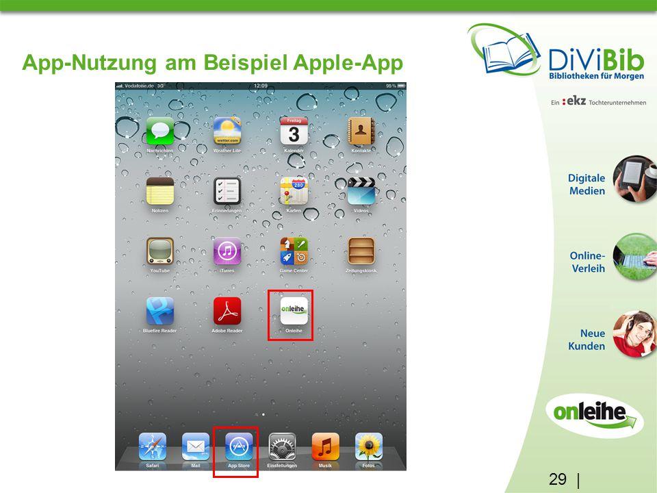 29 | App-Nutzung am Beispiel Apple-App