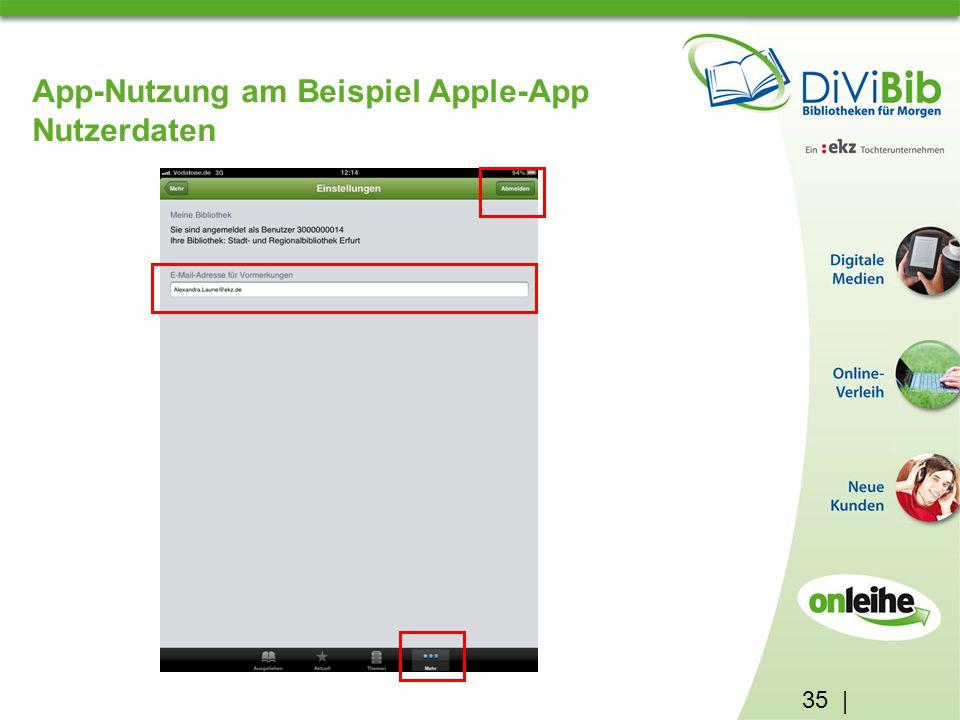 35 | App-Nutzung am Beispiel Apple-App Nutzerdaten